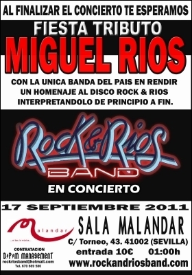Cartel Rock & Ríos Band Sevilla